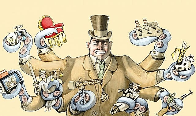 ilustração neoliberalismo