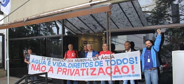 manifestação contra privatização