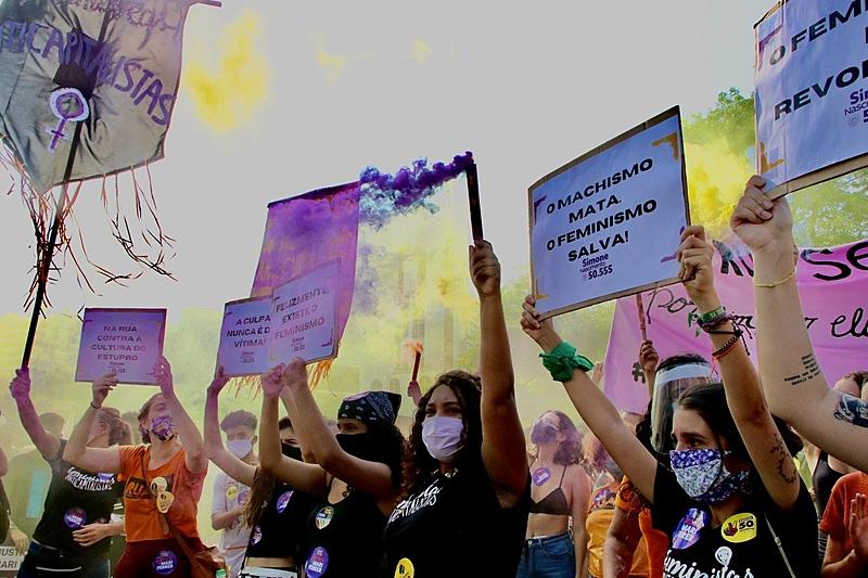 foto de manifestação, feminismo