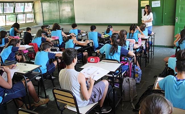 sala de aula cheia