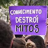 cartaz em manifestação, professores, ,luta